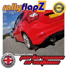 FOCUS Mk3 All Models (Except ST & Zetec S) (2012+) BLACK MUDFLAPS (rallyflapZ Logo Red)